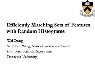 Efficiently Matching Sets of Features with Random Histograms