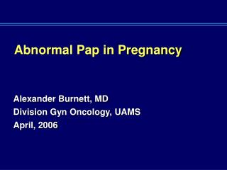 Abnormal Pap in Pregnancy