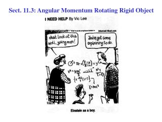 Sect. 11.3: Angular Momentum Rotating Rigid Object