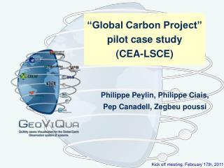 """""""Global Carbon Project"""" pilot case study (CEA-LSCE)"""