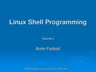 Linux Shell Programming Tutorial 3