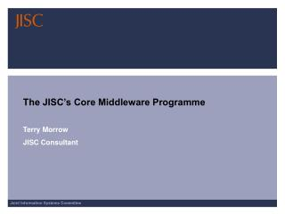 The JISC's Core Middleware Programme