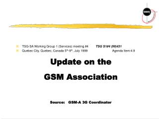 TSG-SA Working Group 1 (Services) meeting #4 	TSG S1#4 (99)431
