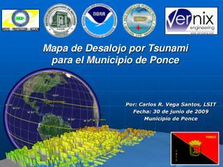 Mapa de Desalojo por Tsunami  para el Municipio de Ponce