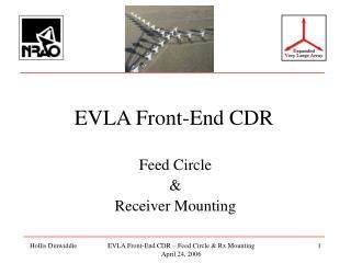 EVLA Front-End CDR