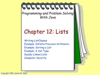 Chapter 12: Lists