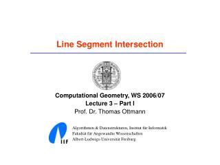 Line Segment Intersection