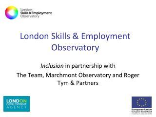 London Skills & Employment Observatory