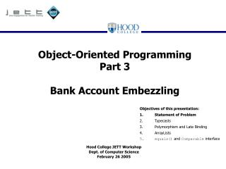 Object-Oriented Programming Part 3 Bank Account Embezzling