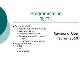 Programmation Tcl/Tk
