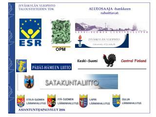ALUEOSAAJA -hankkeen rahoittavat: