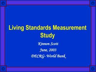 Living Standards Measurement Study