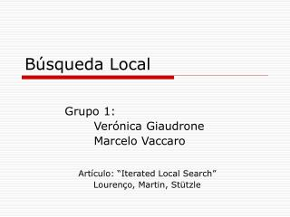B�squeda Local