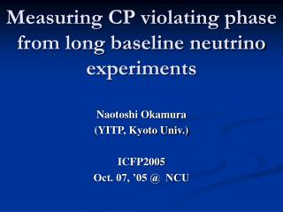 Measuring CP violating phase from long baseline neutrino experiments