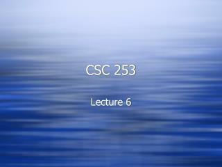 CSC 253