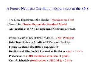 A Future Neutrino Oscillation Experiment at the SNS