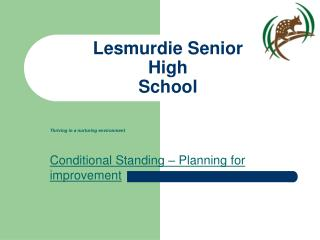 Lesmurdie Senior  High  School
