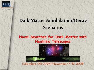 Dark Matter Annihilation/Decay Scenarios