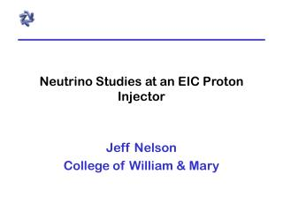 Neutrino Studies at an EIC Proton Injector