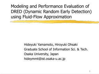 Hideyuki Yamamoto, Hiroyuki Ohsaki Graduate School of Information Sci. & Tech.