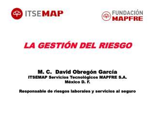 LA GESTIÓN DEL RIESGO M. C.  David Obregón García ITSEMAP Servicios Tecnológicos MAPFRE S.A.