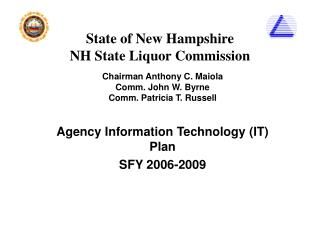 State of New Hampshire NH State Liquor Commission
