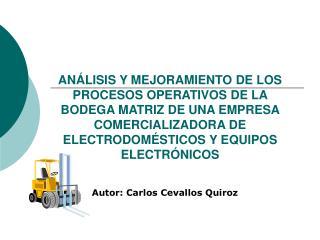 Autor: Carlos Cevallos Quiroz