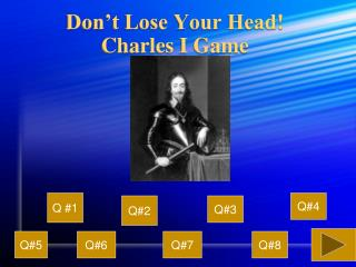 Don't Lose Your Head! Charles I Game