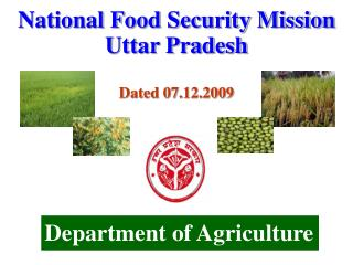 National Food Security Mission Uttar Pradesh Dated 07.12.2009