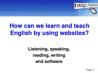 How can we learn and teach English by using websites?