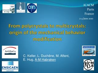 From  polycrystals  to  multicrystals :  origin of the mechanical behavior modification