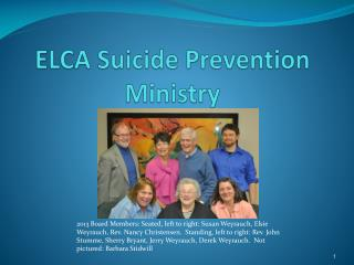 ELCA Suicide Prevention Ministry