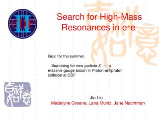 Search for High-Mass Resonances in e + e -