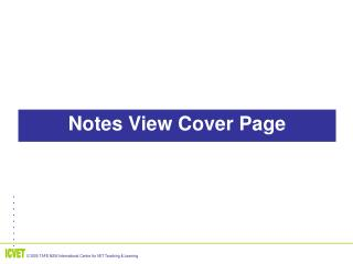 Notes View Cover Page