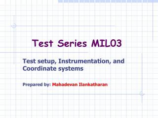 Test Series MIL03