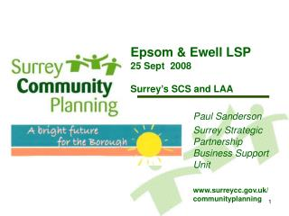 Epsom & Ewell LSP 25 Sept  2008 Surrey's SCS and LAA