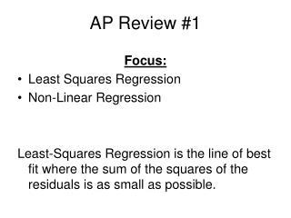 AP Review #1