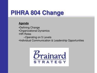 PIHRA 804 Change