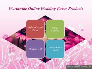 Buy Online Wedding Favor & Practical Wedding Favors