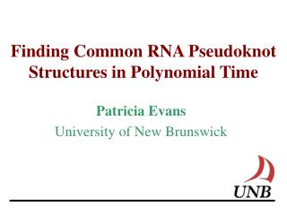Finding Common RNA Pseudoknot Structures in Polynomial Time