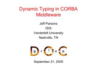 Dynamic Typing in CORBA Middleware