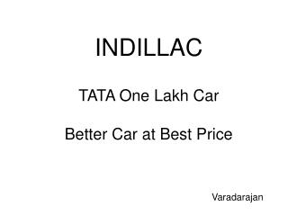 TATA One Lakh Car Better Car at Best Price