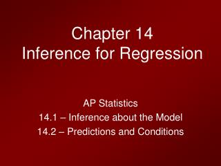 Chapter 14 Inference for Regression
