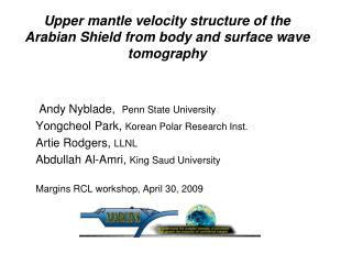 Upper mantle velocity structure of the Arabian Shield from body and surface wave tomography