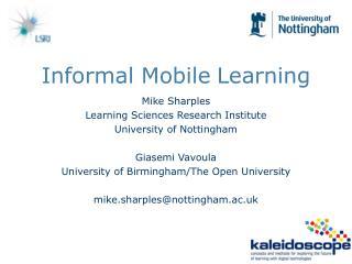 Informal Mobile Learning