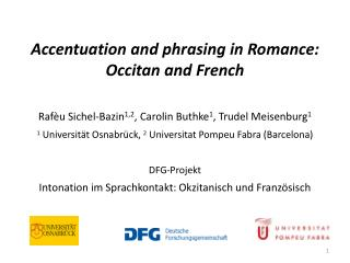 Accentuation and phrasing in Romance: Occitan and French