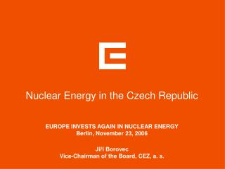 Nuclear Energy in the Czech Republic