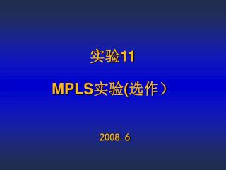 ?? 11 MPLS ?? ( ???