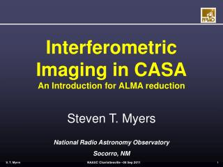 Interferometric Imaging in CASA An Introduction for ALMA reduction