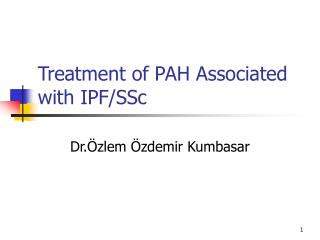 Treatment of PAH Associated with IPF/SSc
